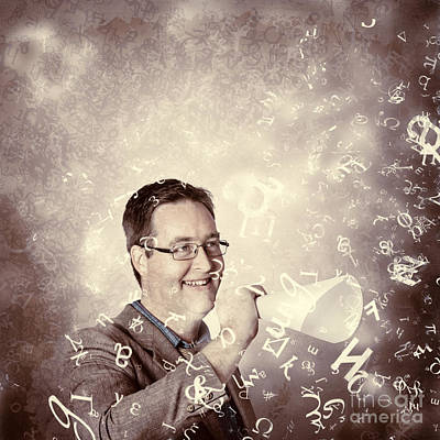 Loud Photograph - Excited Business Man Making A Loud Communication by Jorgo Photography - Wall Art Gallery
