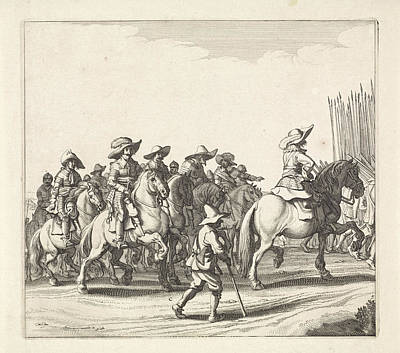 Maastricht Drawing - Exodus From The Spanish Army From Maastricht by Jan Van De Velde (ii) And Jan Martszen De Jonge And Claes Jansz. Visscher (ii)
