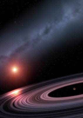 Extrasolar Photograph - Exoring J1407b - Moons In Creation by Mark Garlick