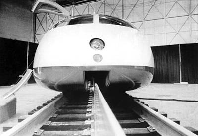 High Speed Photograph - Experimental High Speed Train by Underwood Archives