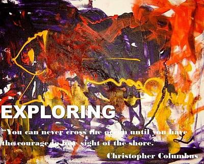 Mixed Media - Exploring by Luz Elena Aponte