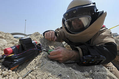 Improvised Explosive Device Photograph - Explosive Ordnance Disposal Technician by Stocktrek Images