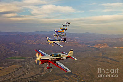 Monoplane Photograph - Extra 300 Aerobatic Aircraft Fly by Scott Germain