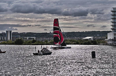 Photograph - Extreme 40 Team Alinghi by Steve Purnell