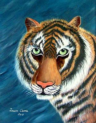 Painting - Eye Of The Tiger by Fram Cama