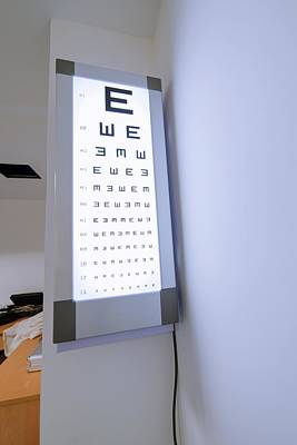 Wall Chart Photograph - Eye Test Chart by Science Photo Library
