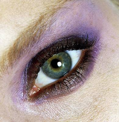 Photograph - Eye With Elizabeth Arden Eye Shadow by Arthur Elgort