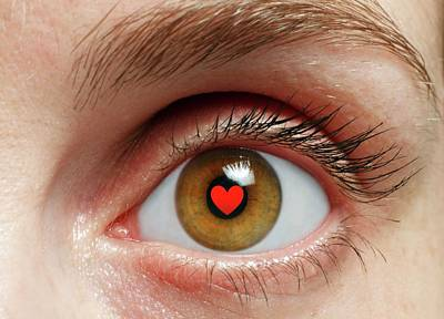 Eye With Heart Art Print by Victor De Schwanberg