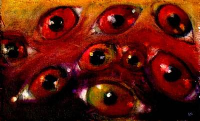 Abstract Sights Painting - Eyes From The Inside 3 by Marcello Cicchini