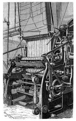 Mechanization Photograph - Fabric Colouring by Science Photo Library