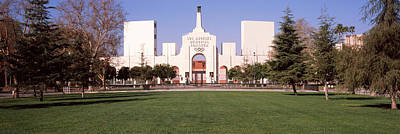 Entrance Memorial Photograph - Facade Of A Stadium, Los Angeles by Panoramic Images