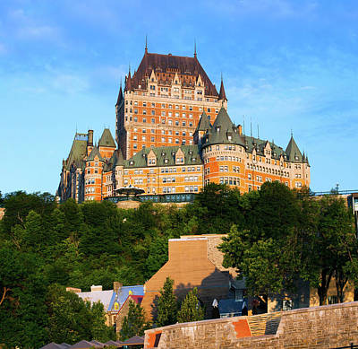 Quebec Photograph - Facade Of Chateau Frontenac In Lower by Panoramic Images