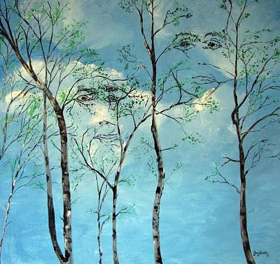 Painting - Faces In The Trees by Gary Smith