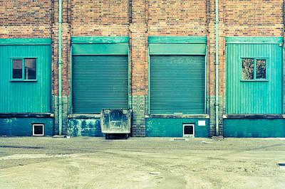 Factory Doors Print by Tom Gowanlock
