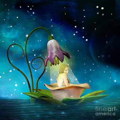 Bathe Digital Art - Fairy Shower by Kim Slater