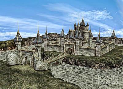 Digital Art - Fairy Tale Castle by Design Windmill
