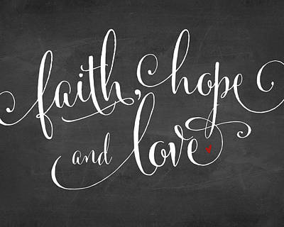 Painting - Faith Hope And Love by Amy Cummings