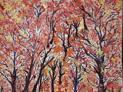 Painting - Fall Foliage Part 1 by Daniel Nadeau