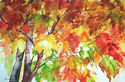 Fall Folliage  Art Print by Betty M M   Wong