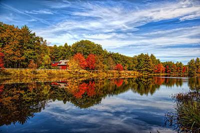 Fall In New England Art Print by Bennie Thornton