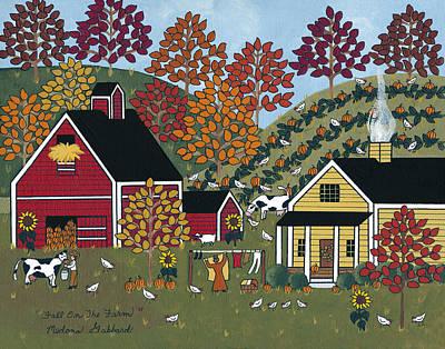Laundry Painting - Fall On The Farm by Medana Gabbard