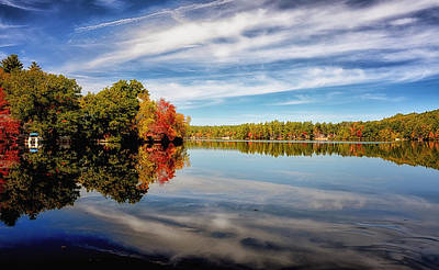 Fall Reflections Art Print by Tricia Marchlik