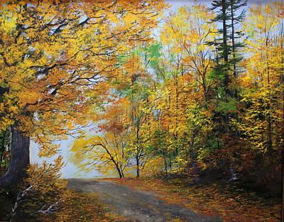Fall Road Art Print by Ken Ahlering