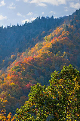 Fall Smoky Mountains Art Print by Melinda Fawver