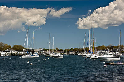 Mellow Yellow - Falmouth Harbor 2 by Dennis Coates