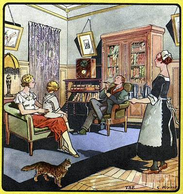 Le Cat Photograph - Family Life, 1930s Artwork by CCI Archives