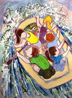 Painting - Family Vacation by Marilyn Jacobson