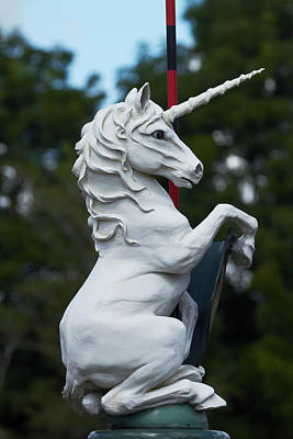 Unicorn Photograph - Fantasy Beast At Tudor Gardens by David Wall