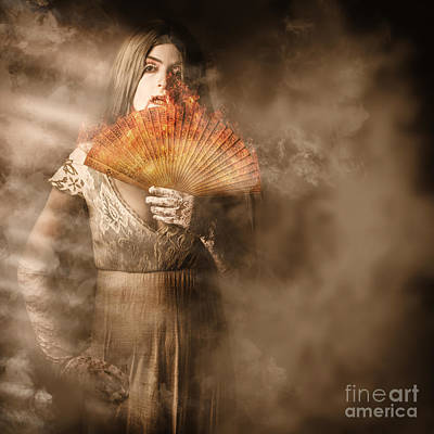 Photograph - Fantasy Fine Art Portrait. Elegant Vampire Woman by Jorgo Photography - Wall Art Gallery