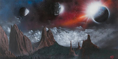Star Burst Painting - Fantasy Garden Of The Gods by Tyrone Webb