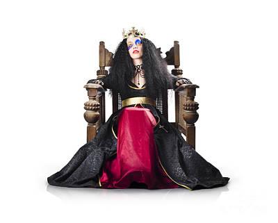 Fantasy Queen On Throne Art Print