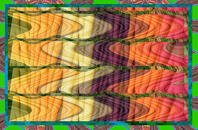 Fantasy Waves Pattern 3d Plateau Art Made Of Vegitable Colors Art Print by Navin Joshi