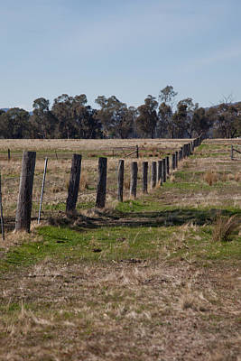 Photograph - Farm Fence by Carole Hinding