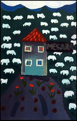 Living Room Painting - Farm by Moma Bjekovic
