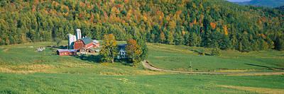 Farmhouse In A Field, Vermont, Usa Art Print
