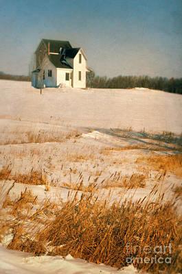 Farmhouse In Winter Art Print by Jill Battaglia