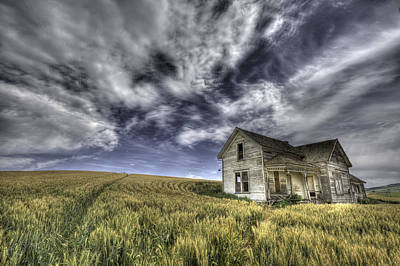 Grey Clouds Photograph - Farmhouse by Latah Trail Foundation