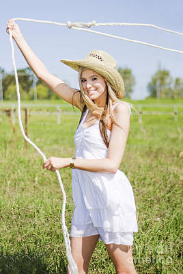 Western Women Photograph - Farming Woman With Rope by Jorgo Photography - Wall Art Gallery