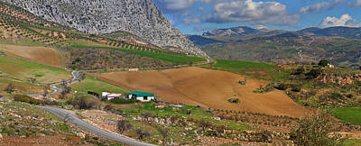 Farmland At The Edge Of El Torcal Art Print by Panoramic Images