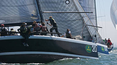 Sausalito Photograph - Farr 40 Action by Steven Lapkin
