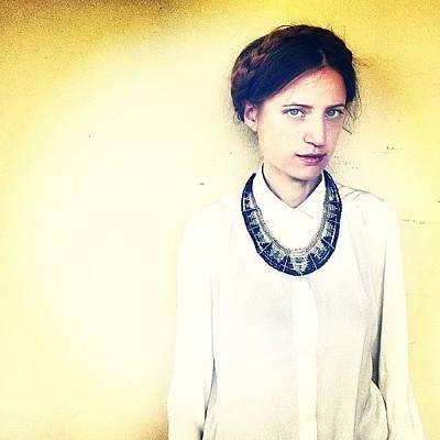 Model Wall Art - Photograph - #fashion  #makeup  #dress  #hot by Simone Albiani