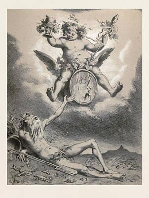 Father Rhine In 1857, Germany, 19th Century Print by German School