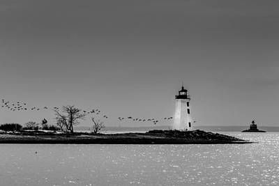 Photograph - Fayerweather Island Light And Penfield Reef Beacon by Randy Scherkenbach