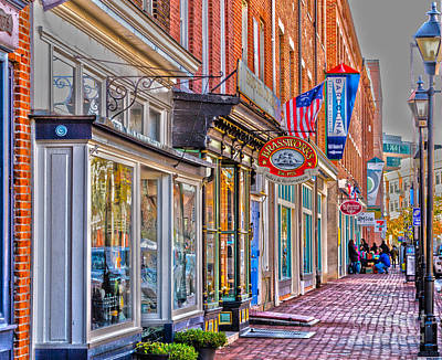 Photograph - Federal Hill Storefronts by William Norton
