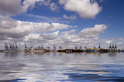 Photograph - Felixstowe Container Docks  by David French