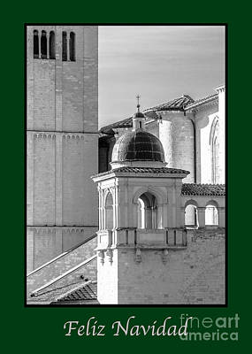 Photograph - Feliz Navidad With Basilica Details by Prints of Italy